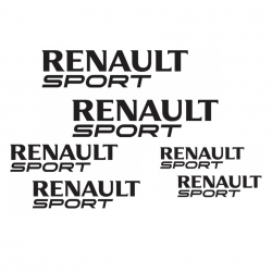 Kit Renault Sport 6 Stickers
