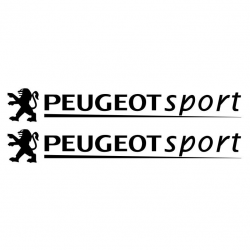 Kit Peugeot Sport 2 Stickers 30 cms V2