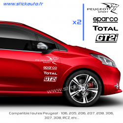Kit 8 Stickers Peugeot Sport Pack