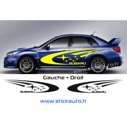Kit 2 Stickers Subaru Rally HD 230cm