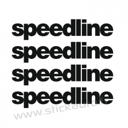 Kit 4 Stickers de jante Speedline 1
