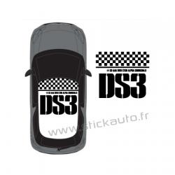 Stickers de toit DS3 Type 1