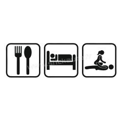 Sticker Eat Sleep Sex