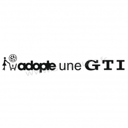 Sticker Adopte une GTi VW