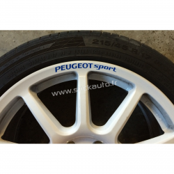 Kit 4 Stickers de jante Peugeot Sport