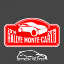 Plaque de Rallye en stickers
