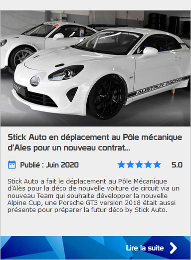 Stick Auto décoration sur la nouvelle Alpine Cup