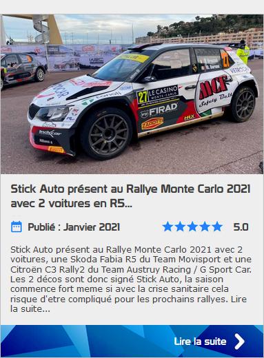 Stick Auto  Monte Carlo 2021